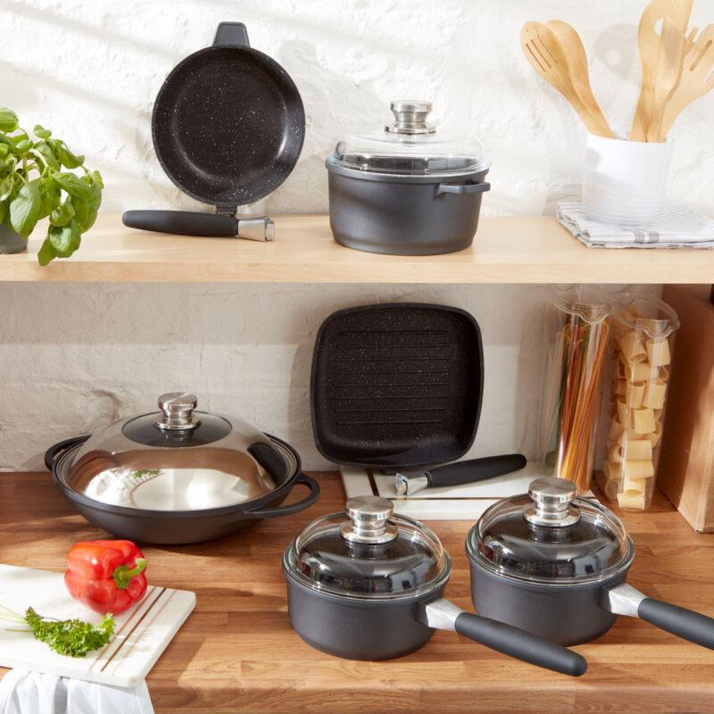 Frying Pan, Sauce Pot, Sauce pans, Wok, Grill Pan