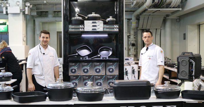 UK Shows Chefs with Pans Exhibition Stand